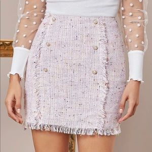 New Cute Shein Tweed Skirt